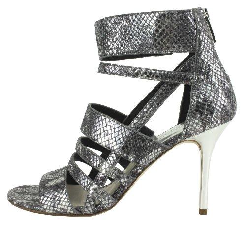 Kors Michael Kors Shiloh Womens Size 6.5 Silver Dress Sandals Shoes