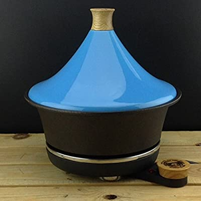 Netherton Foundry Shropshire Cast Iron Electric Tagine With Blue Ceramic Lid from Netherton Foundry Shropshire