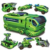 5 Different Vehicles – 7-in-1 Rechargeable Solar Car Kit Station – Science Educational Kit