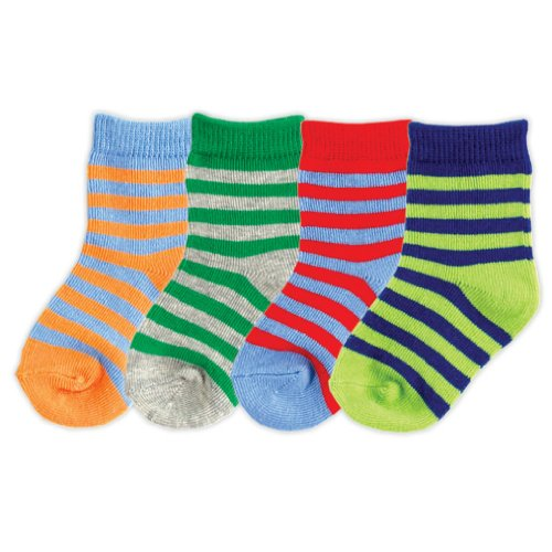 4-Pack Colorful Socks, Blue, 18-36 months