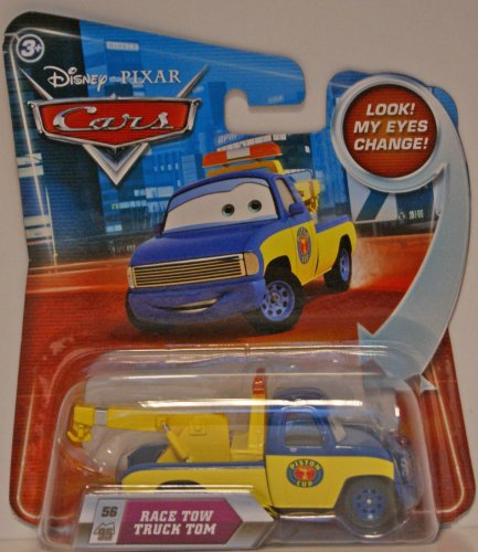 Disney / Pixar CARS Movie 155 Die Cast Car with Lenticular Eyes Race Tow Truck Tom