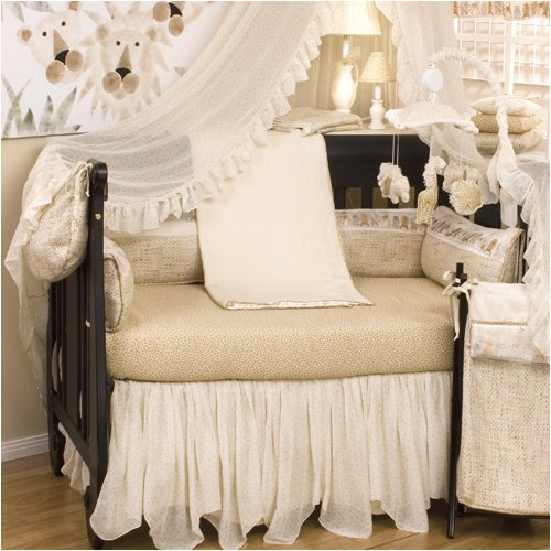 Cotton Tale Designs Silk Safari 4 Piece Crib Bedding Set