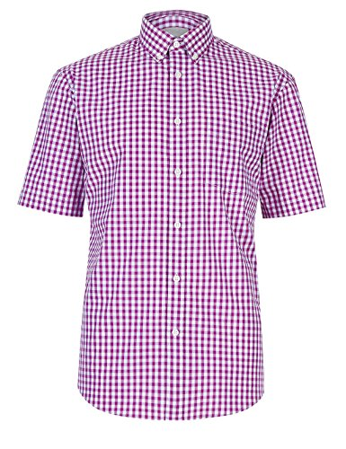 fa-m-ou-s-store-pure-cotton-gingham-checked-shirt-xxl-bt-violet-2731m-ll-0644