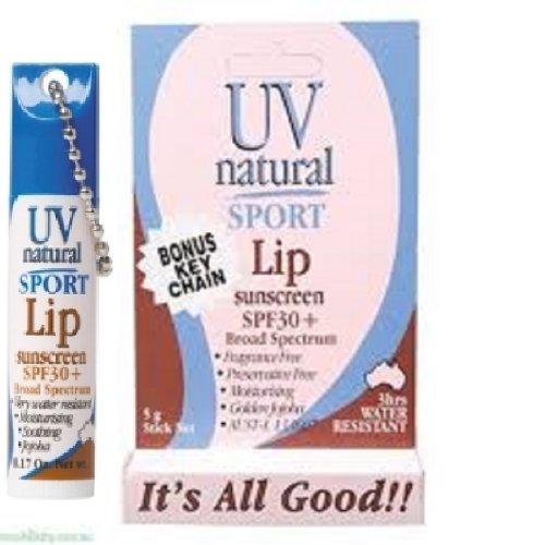 【UV NATURAL】Lip Sunscreen 日焼け止め Sport SPF30+ 5g 3本セット