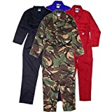 Children's, Kids, Boilersuit, Coverall, Overall, Boys, Girls (Size 24 age 3-4 years, Red)