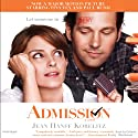 Admission Audiobook by Jean Hanff Korelitz Narrated by Colleen Werthmann