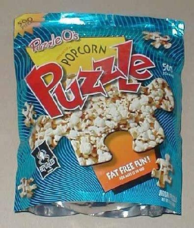 BePuzzled Puzzle-Os Popcorn Puzzle; 500 Piece - 1