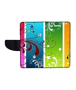 KolorEdge Printed Flip Cover For HTC Desire 526G Plus Multicolor -(50KeMLogo12406HTC526GPlus)