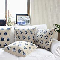 "Yamimi Mediterranean sailor Linen Cloth Pillow Cover Cushion Case 18"",Q475 from Yamimi"