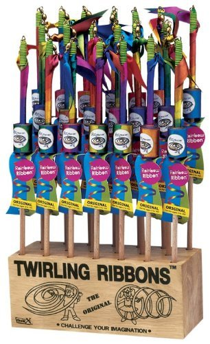 Large Rainbow Twirling Ribbons