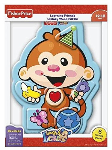 Fisher Price Laugh & Learn Monkey Colours Wood Puzzle 6 pcs