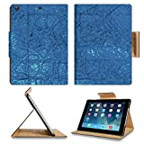 Luxlady Premium Apple iPad Air (Fifth Generation) Generation Flip Case abstract digital background IMAGE 19493465 Pu Leather Card Holder Carrying