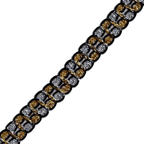 Venus Ribbon 1/2-Inch Metallic Guimp Braid, 5-Yard, Black/Metallic Multi