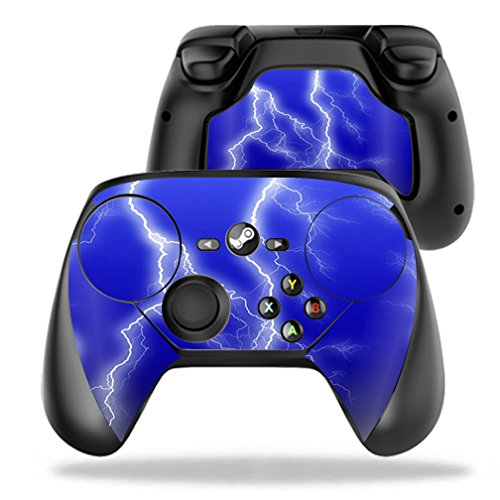 MightySkins Protective Vinyl Skin Decal for Valve Steam Controller case wrap cover sticker skins Lightning Storm (Steam Sticker compare prices)