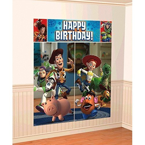New Disney Toy Story Scene Setter Wall Decorations Kit - Kids Birthday and Party Supplies Decoration