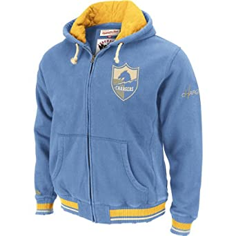 Mitchell & Ness San Diego Chargers Standing Room Hooded Sweatshirt by Mitchell & Ness