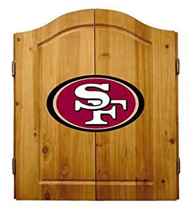 NFL Team Dartboard Cabinet Set by Imperial