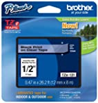 Brother TZe131 Black on Clear 1/2-Inc...