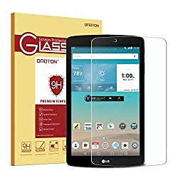 LG G Pad F 8.0 Glass Screen Protector, OMOTON ' Tempered-Glass Protector with [9H Hardness] [Crystal Clearity] [Scratch-Resistant] [No-Bubble Easy Installation] for LG G Pad F 8.0, Lifetime Warranty