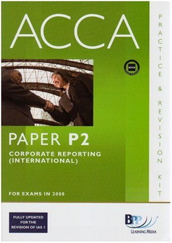 p2 acca paper Study acca p2 via online video tutorials | watch free video lectures, download  free  p2 corporate reporting (int/uk) workbook questions & solutions.
