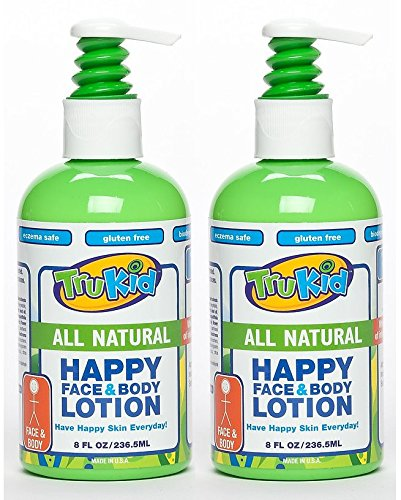 Trukid Happy Face and Body Moisturizing Lotion, Light Citrus, 8 Ounce, 2 Count - 1