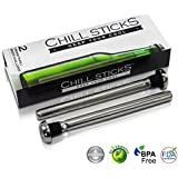 Beer Chiller Chill Sticks - Drink Thru Beer Chillers. Set of 2. Keeps Beer Cold and Makes a Great Gift!