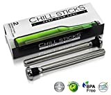 Beer Chiller Chill Sticks – Drink Thru Beer Chillers. Set of 2. Keeps Beer Cold to the Last Sip. Best Gift for Men – On a Birthday, Holiday, Graduation, Retirement, or Christmas! You'll Want These for Your Home, Pool, Beach House, Picnics and Bbq! Help Your Beer-lover Dad, Brother, Grandfather, Boyfriend, or Husband How to Keep Their Cool All Summer Long. Craft Beers Are Best Served Chilled.