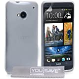Yousave Accessories Coque en silicone gel pour HTC One Transparent