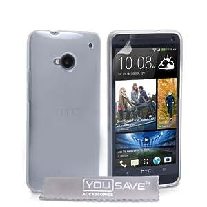 Yousave Accessories Coque en silicone gel pour HTC One Transparent