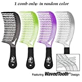 The Wet Comb Detangling Hair Comb - Metallics Collection (Colors May Vary)