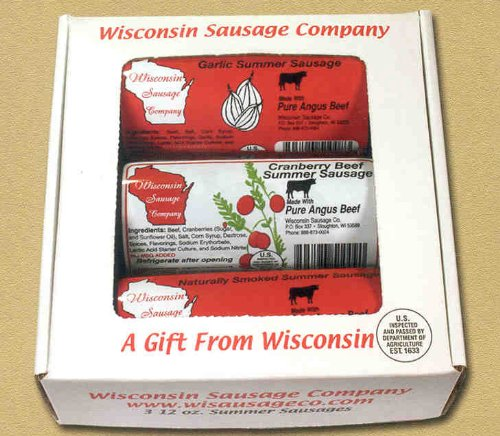 Wisconsin Angus Beef Sausage Sampler Gift Box