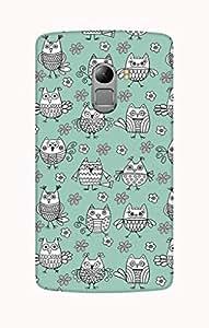 Defunk Retro Owl Doodle Mobile Cover for Lenovo Vibe K4 Note[Matte Finish,Hard case]