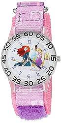 Disney The Princess & The Frog Kids W002951 Rapunzel Analog Display Analog Quartz Purple Watch