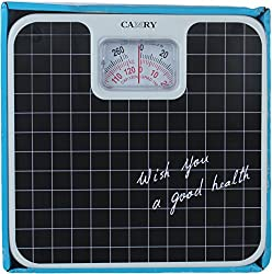 MCP Camry Analog Manual Weighing Scale- 120kg, Black