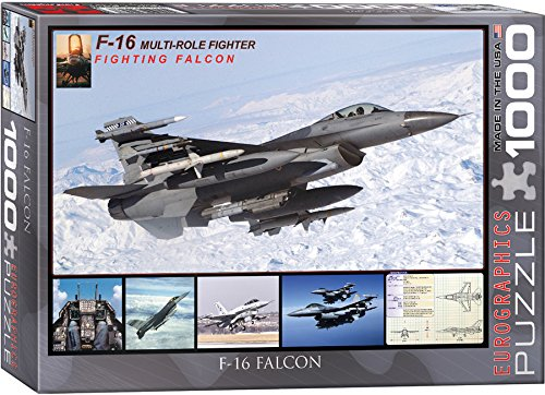 EuroGraphics F-16 Fighting Falcon Puzzle (1000-Piece) (1000 Piece Airplane Puzzle compare prices)