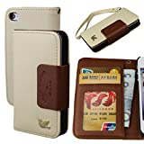 Case for Iphone 4,Case for Iphone 4s, By HiLDA,Wallet Case,PU Leather Case,Cut,Credit Card Holder,Flip Cover Skin,(Brown)