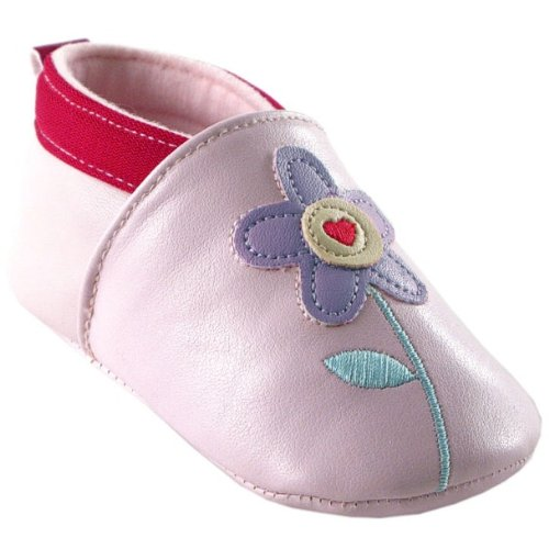 Slip-on Girl Booties, Flower, 12-18 months