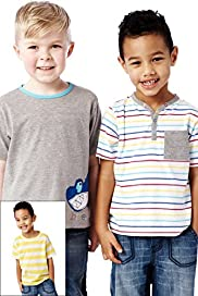 3 Pack Cotton Rich Assorted T-Shirts