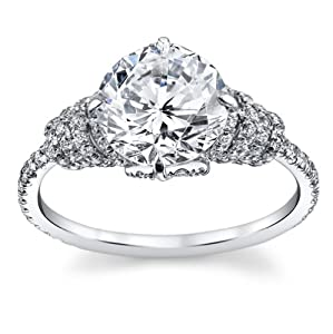 2.75 Ct Brilliant Round Cut Diamond Engagement Ring on Platinum 2.00 ct E-F VS GIA Certified Center Stone