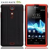 Case-Mate docomo Xperia GX SO-04D Hybrid Tough Case, Black/Tangerine Tango ハイブリッド タフ ケース, ブラック/タンジェリン・タンゴ CM021724