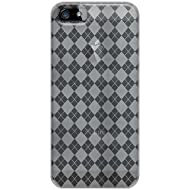 Amzer Luxe Argyle High Gloss TPU Soft Gel Skin Case For IPhone 5 (Clear)
