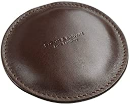 Dark Brown Leather Paperweight by Byron and Brown