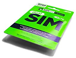 Simple Mobile SIM Preloaded Prefunded With $40 First Month Free