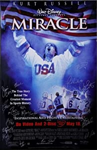 1980 USA Miracle on Ice Hockey Team Signed Miracle Movie Poster