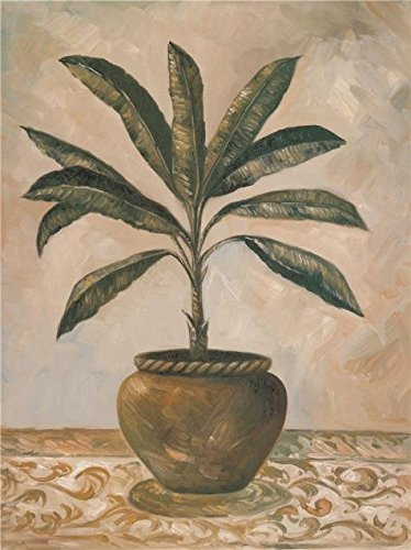 Oil Painting 'a Pot Plant' Printing On High Quality Polyster Canvas , 10x13 Inch / 25x34 Cm ,the Best Gym Artwork And Home Decoration And Gifts Is This High Quality Art Decorative Prints On Canvas