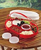 Portable Picnic & Party Servers - RED