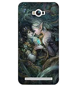 PrintDhaba LOVE COUPLE D-6879 Back Case Cover for ASUS ZENFONE MAX ZC550KL (Multi-Coloured)