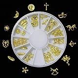 Miniatura Ronda Charm Entubado de Oro (12 tipos piezas X2) 24 piezas ver.2