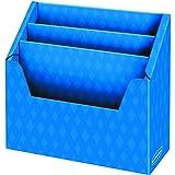 "3 Compartment Folder Holder, 12""H x 13 3/4""W x 5 5/8""D, Blue"