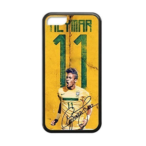 Black, 5C Case - Neymar Jr World Cup Signature Photo Design Durable Rubber Tpu Silicone Case Cover For Apple iPhone 5C